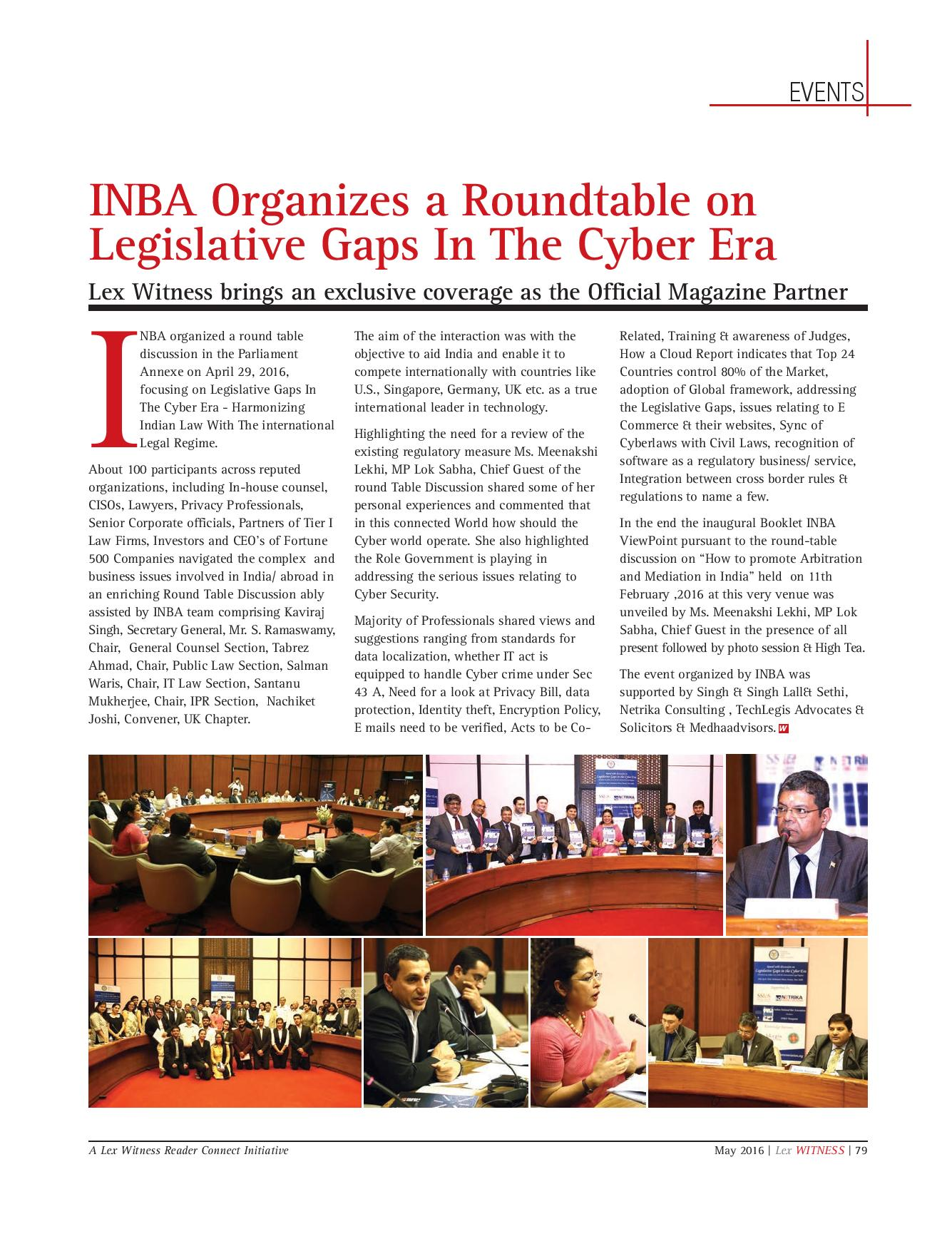 INBA Round table Discussion