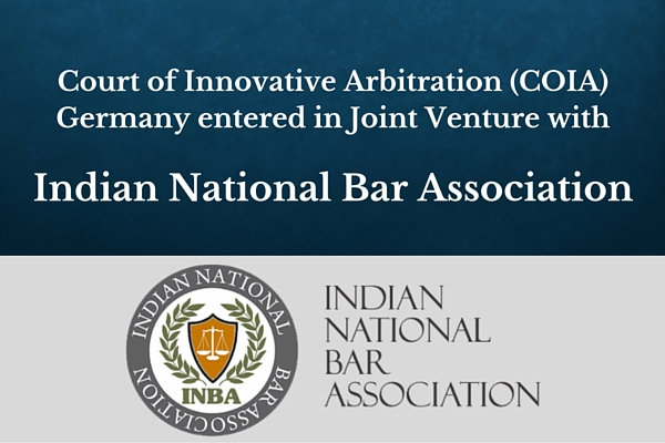 Court of Innovative Arbitration (COIA) Germany entered in Joint Venture with INBA